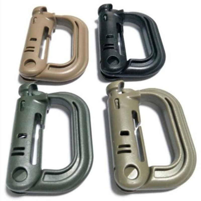 10x Military Camping Hiking Backpack Molle Locking Webbing Buckle Carabiner
