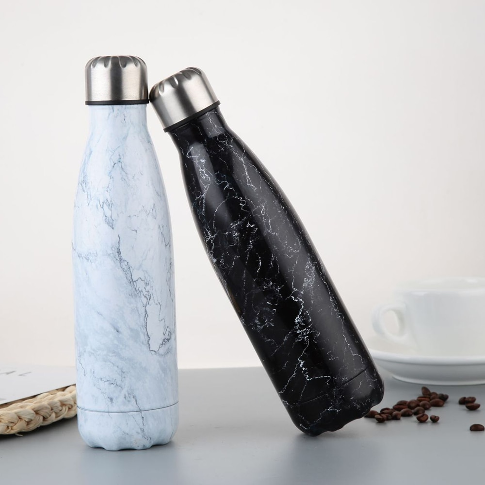 Hot 500ml Water Bottle Vacuum Insulated Flask Thermal Sport Chilly Cold Cup UK